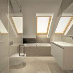 Projekt wnętrza łazienki w pokoju hotelowym - Architekt Wnętrz Wkwadrat - projektowanie hoteli