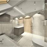 Projektowanie wnętrza łazienki w hotelu - Architekt Wnętrz Wkwadrat - projektowanie wnętrz