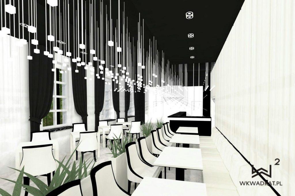 Projekt aranżacji wnętrz restauracji w hotelu - Architekt Wnętrz WKWADRAT - projektowanie hoteli