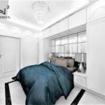 Projektowanie hoteli - Architekt Wnętrz Wkwadrat - Aranżacja wnętrza sypialni w apartamencie hotelowym
