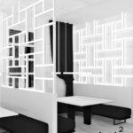 Projekt oświetlenia w restauracji hotelowej - panele świetlne - Architekt Wnętrz WKWARAT - projektowanie hoteli