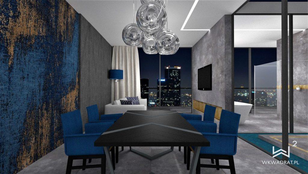 Projekt wnętrz apartamentu hotelowego - Architekt Wnętrz WKWADRAT - projektowanie hoteli